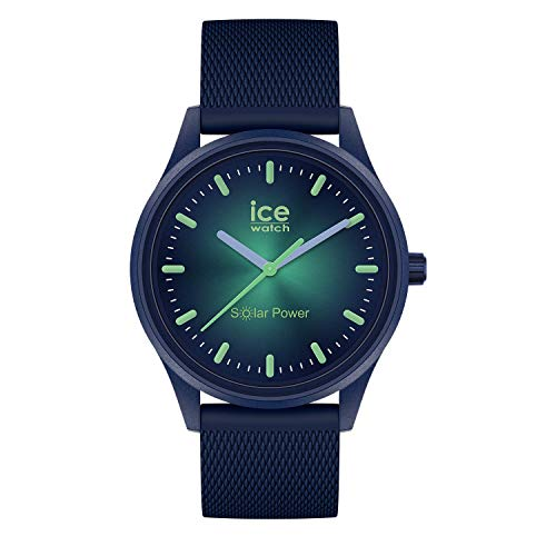 Ice-Watch ICE Solar Power Borealis - Reloj para Unisex Adulto con Correa de silicona, Azul, 019032 (Medium)