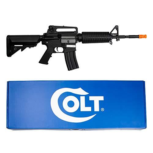 COLT M4 A1 Kit Completo Fucile Softair Elettrico/AEG In Polimero/Metal Body 0,9 Joule+Batteria e Carica Batterie+Occhiali Protettivi Giallo+Sacchetto Pallini 1 Kg+Mezza Maschera Protezione Viso