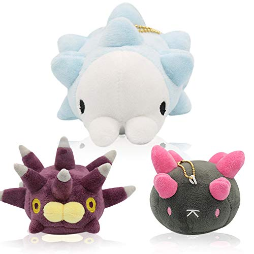 LUDQ Pokemon Juguetes de Peluche Espada y Escudo 3 Piezas Pyukumuku Echinoidea Pikachu muñeca Kawaii Llavero de Felpa Juguete Regalo para niños