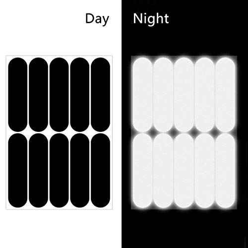 40 PCS Reflective Stickers Kit, Reflector Strips Decal, Night High Visibility Safety, Universal Adhesive Reflectors for Bike/Stroller/Buggy/Helmet/Motorbike/Scooter/Toys