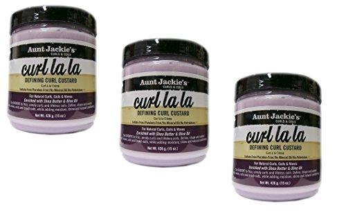 3x Aunt Jackie's Curls & Coils curl la la Defining Curl Custard Cream 426g (insgesamt - 1278g)