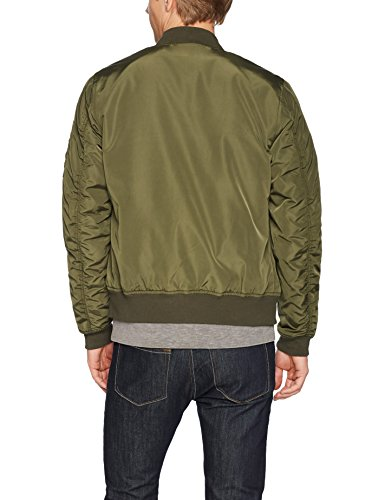 Goodthreads Bomber Jacket Blouson, Vert (Olive), Large