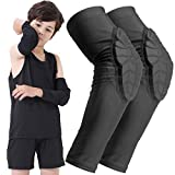 BOHOPE Kids Youth 5-15 Years Arm Pad Sleeve Sports Compression Elbow Padded Guards Protective Gear for...