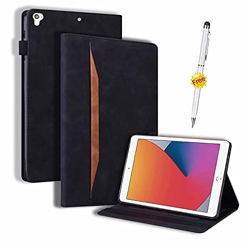 Funda Samsung Galaxy Tab S7 Plus/Tab S7+/Tab S7 Fe, Case Carcasa Samsung Tab S7 Plus/Tab S7+ T970 T976B 5G 12.4 Pulgadas 2021, Tableta con lápiz táctil con función Stand,Negro