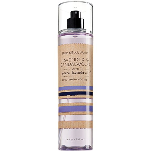 Price comparison product image Bath and Body Works Lavender Sandalwood Fine Fragrance Mist 8 Ounce Full Size