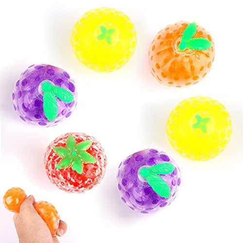 ZoneYan 6 Piezas Fidget Toys Stress Ball, Stress Ball Frutas, Pelota Antiestres, Fidget Toy Globbles, Bolas Antiestres Frutas, Estilos Aleatorios de Frutas Bonitas, Ideas para Regalar