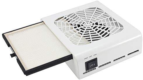 ネイルダスト コレクター ネイルダスト ネイル集塵機 卓上集塵機 ジェルネイル機器 ネイルドライヤー ジェルネイル ネイルケア用 2つの風速は調整可能 使用簡単110V?45W 低騒音 白