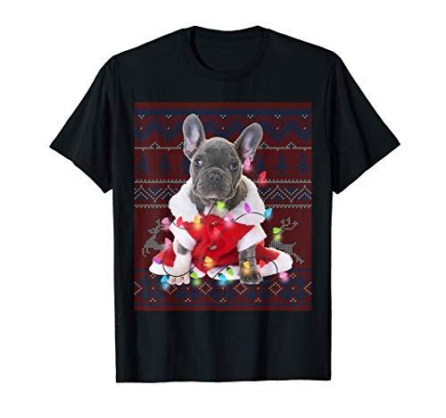 French Bulldog Christmas Lights Ugly Sweater Dog Lover Gift T-Shirt