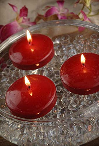 N / A 12 Red 3' Floating Candles