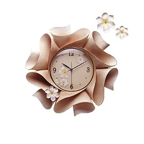 Reloj de Cuarzo de Pared 22 pulgadas flor estilo epoxi cerámico reloj de pared elegante de cristal Dial números árabes sala de estar dormitorio reloj decorativo Decorar La Oficina o Casa