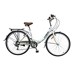 Folding Bikes ECOSMO 26″ New Folding Ladies Shopper City Bicycle Bike 7 SP SHIMANO -26ALF08W