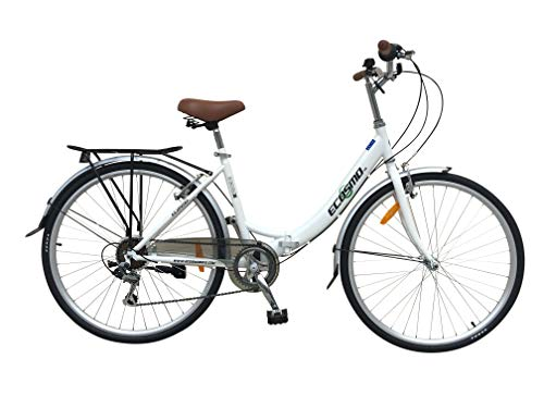 ECOSMO 26' New Folding Ladies Shopper City Bicycle Bike 7 SP SHIMANO -26ALF08W