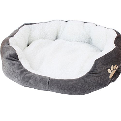 Westeng 1 Stück Ultra-weiche Baumwolle Welpen Nest Katzenbett, kleine Haustierbett Teddy Kennel waschbar,50 x 40 x 15 cm