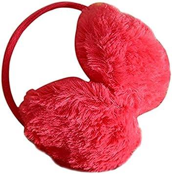 QiancArolBD Men Women Cute Warm Winter Round Earmuffs Plush Ear Pads Warm Earmuffs Headband Decoration White