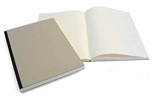 Hardcover-Skizzenbuch, Projektbuch, Zeichenbuch, DIN A5, 144 Seiten, Einband Grau natur