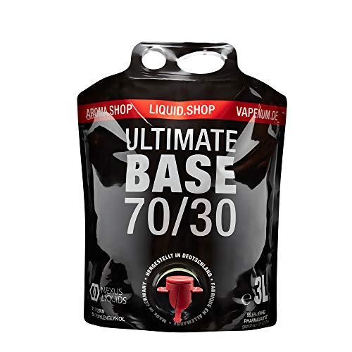 Ultimate Base 3L Bag-in-Box E-Liquid Base Liquid Ohne Nikotin PG VG 3000ml 3 Liter zum dampfen (70/30)