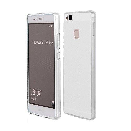 MELOENVIAS Funda Carcasa para Huawei P9 Lite Gel TPU Liso Mate Color Transparente