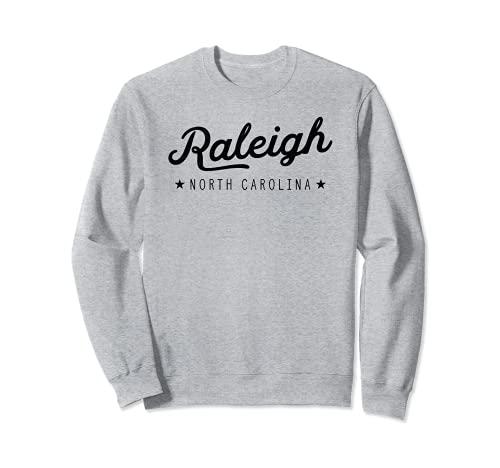 Classic Retro Vintage Raleigh North Carolina USA Souvenir Felpa