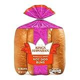 Kings Hawaiian Sweet Hot Dog Buns, 12 Ounce -- 12 per case.