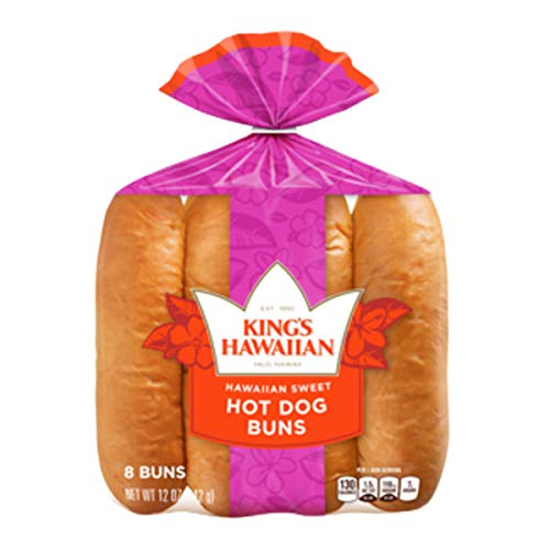 King's Hawaiian Original Hawaiian Sweet Hot Dog Buns 8 Count (Pack of 3)