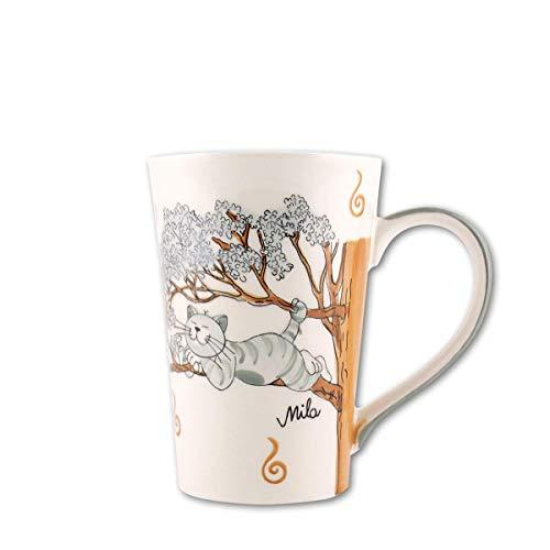 440s.de Mila Keramik-Teebecher, Oommh Katze Pure Relax | MI-81184 | 4045303811843
