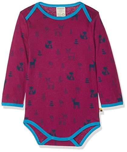 loud + proud Baby-Unisex Body Woll-Anteil, Druck Spieler, Violett (Orchid or), 68