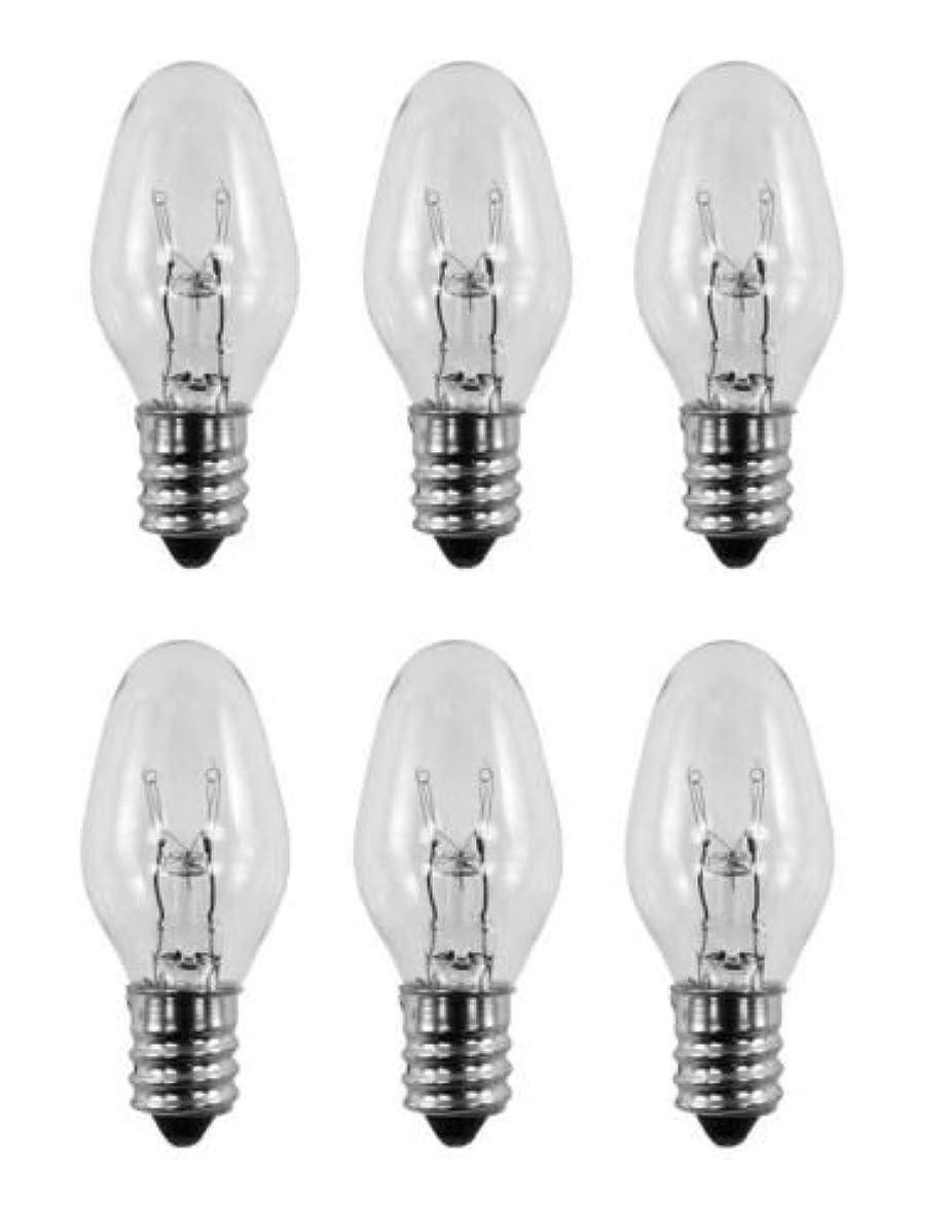 6 Pack Light Bulbs 15W for Scentsy Plug-In Warmer Wax Diffuser 15 Watt 120 Volts