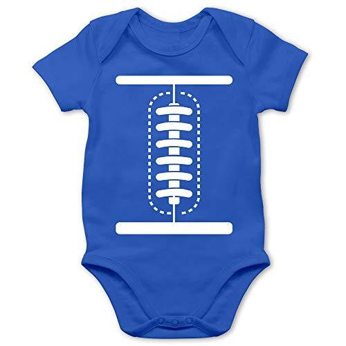 Shirtracer Karneval und Fasching Baby - Football Baby Kostüm - 1/3 Monate - Royalblau - Karneval kostüm Baby - BZ10 - Baby Body Kurzarm für Jungen und Mädchen