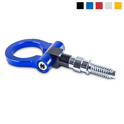 Abschleppöse Abschlepphaken aus eloxiertem Aluminium - Gewindemaße: M18, Farbe: Blau - Tow Hook für Rennsport
