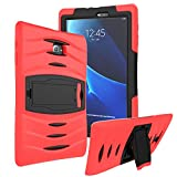 KIQ Samsung Galaxy Tab E 9.6' SM-T560 Case, Shockproof Heavy Duty Military Armor Hybrid Case Cover Rugged Impact Drop Protection for Samsung Galaxy Tab E 9.6 T560 T560NU T560NZ T567 (Red)