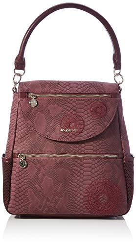 Desigual Accessories PU Backpack Medium, Mochila. para Mujer, Rojo, U