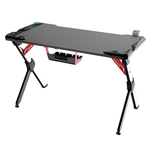 Computertische Professioneller Gaming-Schreibtisch mit innovativem Design Büro Kohlefasermuster Funktionsschreibtisch, Schreibtisch zu Hause Schlafzimmer Schreibtisch