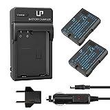 EN-EL14 EN EL14a Battery Charger Pack, LP 2-Pack Battery & Charger, Compatible with Nikon D3500, D5600, D3300, D5100, D5500, D3100, D3200, D5200, D5300, D3400, DF, P7000, P7100, P7700, P7800 & More