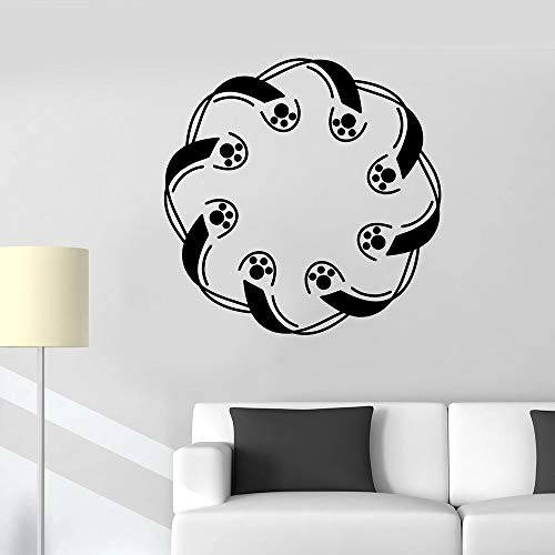 ganlanshu Phantombild Wandtattoo für Wohnzimmer Muster symmetrisch Vinyl Firma Wandaufkleber Schlafzimmer Dekoration Piktogramm Dekoration 45cmx45cm