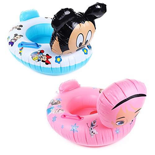 TRRY Anillo de natación Bebé, 2 pcs Flotador Nadar Inflable Juguetes de Piscina Inflable de Piscina Nadar Anillo para Niños Bebés