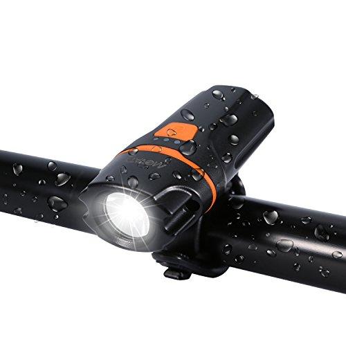 Movaty Eclairage Avant, L30 Lampe Vélo,Eclairage Vélo LED Rechargeable,LED Phare USB éclairage 2600 mah Batterie au Lithium,étanche Lumière Avant pour Vélo avec 3 Modes D'éclairage,450Lumine