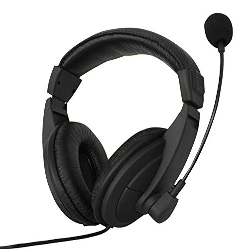 3.5mm Wired Headphones with Microphone,PC Headphones, Over Ear Headphones, Portable Gaming Headset Over-Ear Noise-Proof Gaming Headphones Adjustable