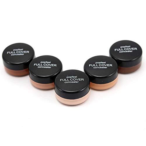 Fond de Teint, Couleur Naturelle Durable Correcteur Crème Anti-cernes Correcteur Foundation Waterproof Concealer 5 Couleurs JiaMeng