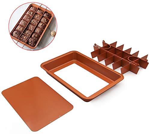 Molde Brownie Bandeja Molde para pasteles Molde para Hornear Pan Antiadherente Molde para Hornear Brownie de 18 cavidades