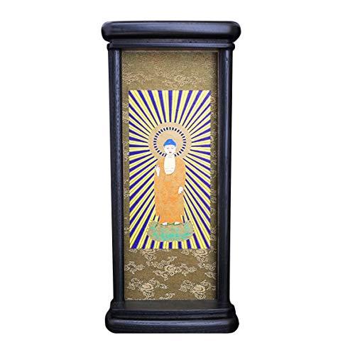 京仏壇はやし 掛軸 仏壇用 モダン掛軸 日蓮宗 中 (本尊のみ) 紫檀色 ◆高さ26.5cm 幅11cm 奥行5.5cm 【 掛け軸 】