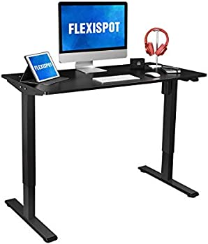 Flexispot 48 x 24 Inch Height Adjustable Standing Desk With Splice Board
