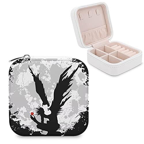 Shinigami - Joyero de piel sintética, portátil, para collares, pendientes, pulseras, anillos, relojes, expositores, cajas de joyería para mujeres