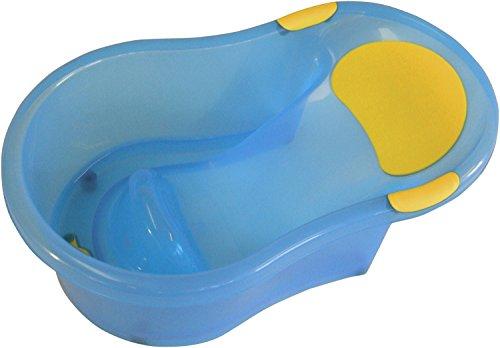 Bieco ergonomische Baby Badewanne 0-12 monate, 63cm | Baby Wanne | Stöpsel Badewanne | Badewanne Baby | Badewanne für Dusche | Baby Bath Tub | Baby Set | Badeeimer Baby | Mobile Badewanne | Zubehör