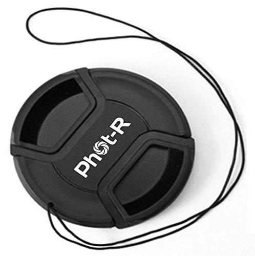 Phot-R 86mm Zentrum Pinch Snap-on Objektivdeckel mit Halteband, Kamera-Schutzdeckel für Canon, Nikon & Sony DSLR & spiegellose Kameraobjektive