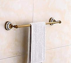 Fokky Handdoekenrek stang handdoekhouder handdoekhouder roestvrij staal badkamer houder handdoek haak koper eenpolig retro
