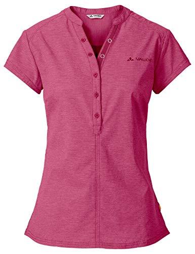 VAUDE Damen Women's Turifo Shirt, Kurzarmbluse zum Radfahren Bluse, Passion Fruit, 38
