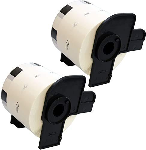 2 x DK11209 Adress-Etiketten (800 Etiketten pro Rolle) kompatibel zu Brother QL-500 QL-550 QL-560 QL-570 QL-580N QL-700 QL-720NW QL-800 QL-810W QL-1050 QL-1060N, Papier weiß (29mm x 62mm)