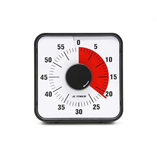 iShin/é Minuteur analogique visuel Outil de Gestion du Temps pour Enfants et Adultes (Rouge) minuteur Enfant,Compte /à rebours Silencieux