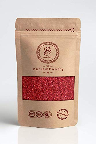 Pulver Sumac 250 Gramm 100% natürlich, schonend getrocknet und gemahlen, natürlich ohne Zusatzstoffe, vegane Premium Qualität von MariamPantry