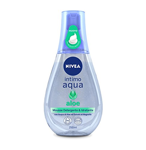 Nivea Intimo Aqua Aloe Mousse Detergente e Idratante, 250 ml